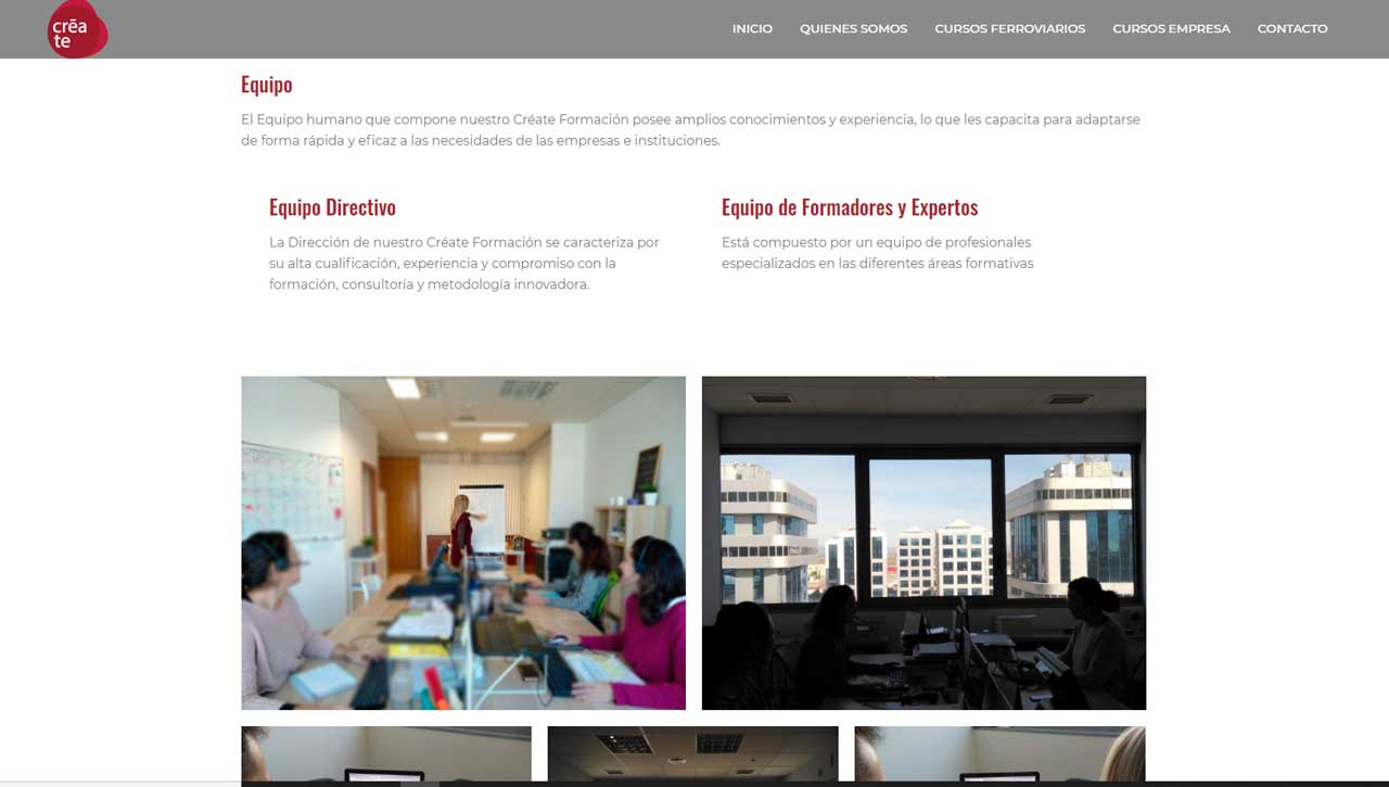 Web Corporativa para Create