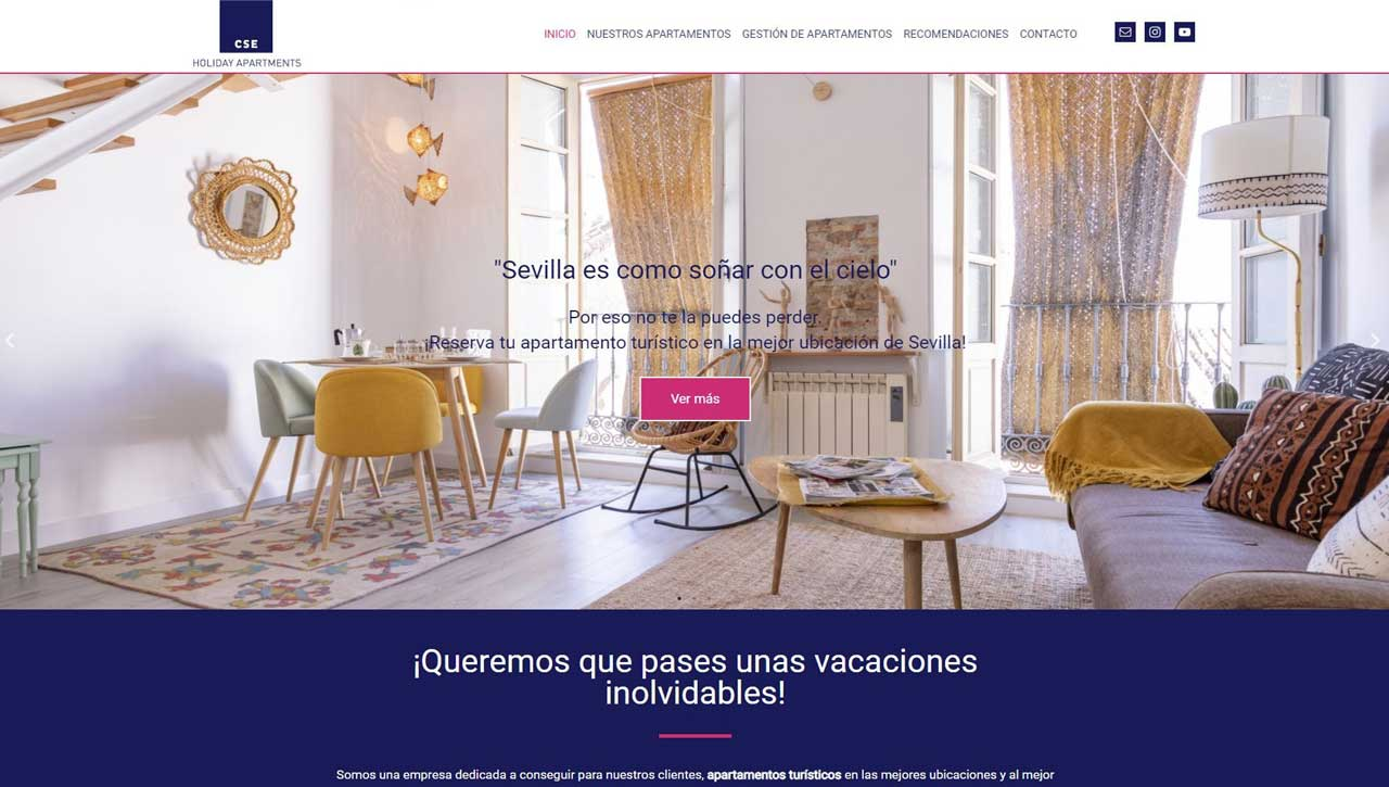 Web para apartamentos turísticos