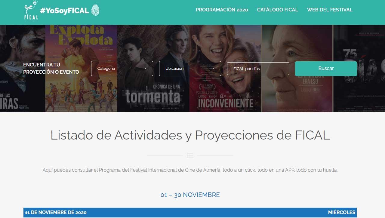 Diseño Web para Festival de Cine