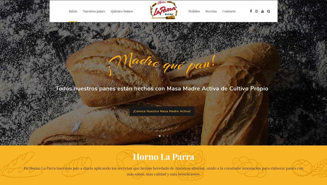 Web para Horno La Parra