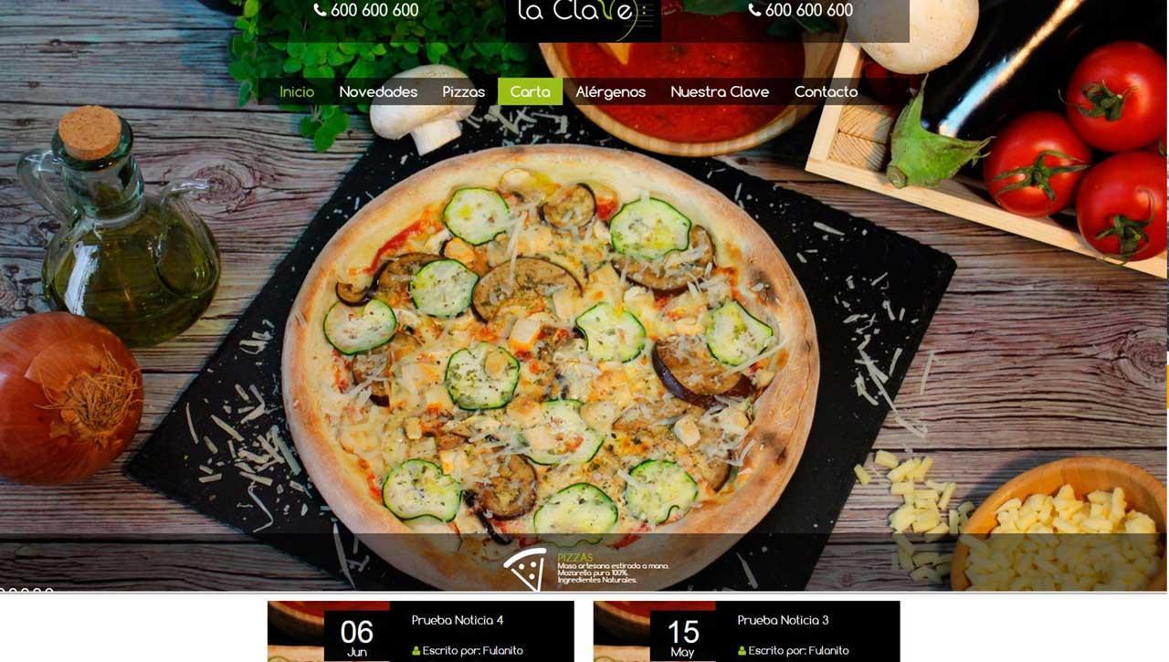 Web para Pizzería